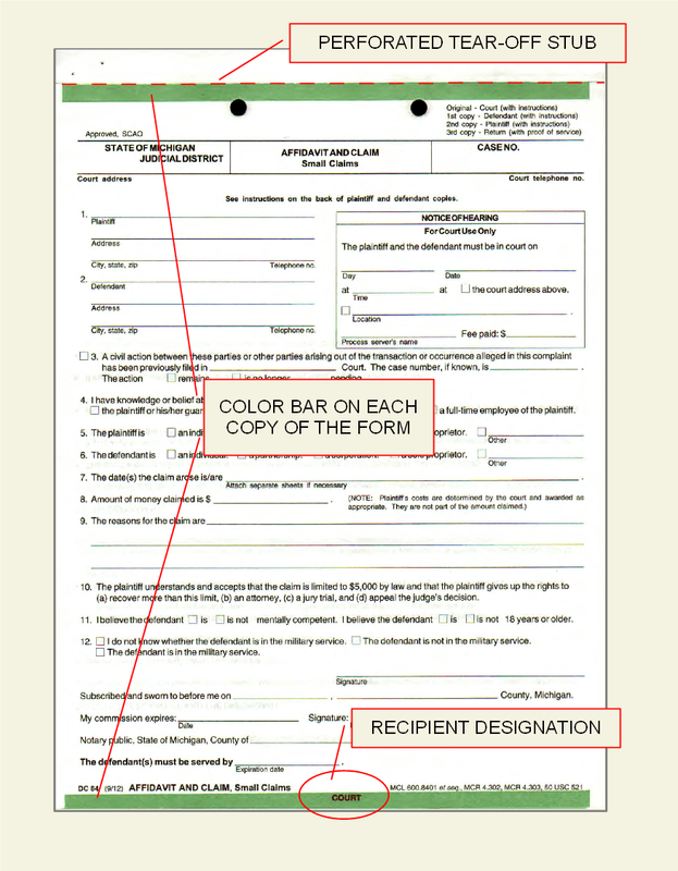 SCAO approved Michigan Court Forms DataLegal Forms – Civil Summons Form